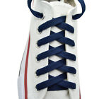 "Flat Shoelace 8 mm ""Navy Blue"" Athletic Sneakers 27"",36"",45"",54"",63"""