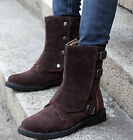 Fashion Mens High Top Button Faux Suede New British Style Desert Mid Calf Boots