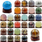 30MM Wholesale Natural Gemstone Sphere Round Crystal Reiki Healing Globe Ball