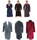 LUXURY MENS GENTS FULL LENGTH VELOUR FLEECE ROBE DRESSING GOWN + BELT SIZE S- XL