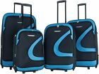 """Charlie Sports"" 4pcs Light Weight Upright Polyester Suitcase/Travel Luggage Set"