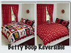 BETTY BOOP REVERSIBLE BEDDING DUVET QUILT COVER SET POLKA RED LIPS KISSES DESIGN