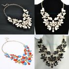 Fashion Women's Jewelry Chunky Statement Resin Bead Bib Pendant Choker Necklace