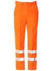 KLOPMAN BRITISH MADE TOP QUALITY HI-VIS WORK TROUSERS BY ALSICO. ORANGE.