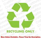 RECYCLE Plastic/Cans/Bottles/Recycling/Paper Vinyl Decal DIE