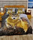 Rapport Multi Twilight Wolf Photographic Duvet Set Single Double Or King