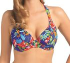 New Acapulco Cobalt Blue UW Multiway Banded Halter Bikini Top by Freya. 55% Off