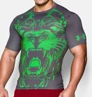 """Under Armour Mens T-shirt""""Alter Ego Beast Lion Compression"""",Gray&Green"""