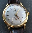 18K SOLID GOLD OMEGA GENTS AUTOMATIC DRESS WATCH