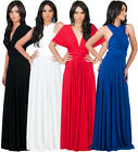 NEW Womens Bridesmaid Convertible Wrap Plus Size Long Maxi Dress S M L XL 2X