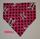 Skulls Bones Pink Fuschia Camo Bows Over Collar Slide On Pet Dog Bandana Scarf