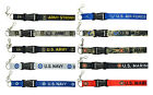 US.ARMY,US NAVY,US MARINES,US AIR FORCE Military Lanyard Keychain ID Holder