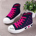 NEW Fashion Kid's GIRLS Sports Casual Canvas Sneakers Shoes Boots