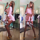 Sexy Womens Girls Summer Playsuit Party Shirt Top Jumpsuit Romper Short Trousers