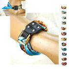 Women Scarf Silk Bracelet Genuine Leather Bangle Fashion Snood Wrap Shawl Wrist