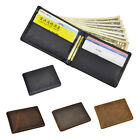Men Vintage Genuine Leather Bifold Wallet Coin Purse Many Short Card Holders New