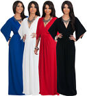 NEW Womens Flutter Sleeve Kaftan Style V-neck Plus Size Maxi Dress S M L XL 2X