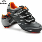 Tiebao Cycling Road Bike Shoes Professional Sports Lock Tread Bike Shoes Orange