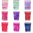 24'' Clip In On Long Wavy Curly Colorful Synthetic Hair Extensions 5 Clips 1pc
