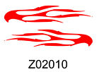 STICKER AUTOCOLLANT FLAME TRIBAL CAR BIKE    STICKERS VYNIL TUNING PAREBRISE
