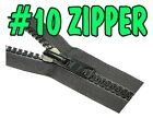 #10 Chain Zipper Sliders Single and Double pull Upholstery by the yard