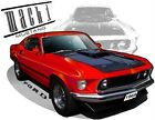 1969 Ford Mustang  Mach 1 Muscel Car Tshirts automotive art