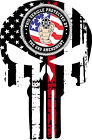 Thin Red Line Firefighter Punisher Decal - 2nd Amendment Decal - Various Sizes