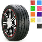 8M car styling Tire Tyre Rim care protector Hub Wheel Stickers strip
