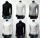 New Mens Cotton Turtleneck Sweatshirt Jumper 4 Colours Polo Neck Tops.(Sz) XS~XL