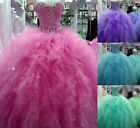 Hot Beaded Quinceanera Dresses Formal Ball Gown Prom Party Pageant Wedding Gown