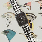 Houndstooth Pattern on Genuine Leather Strap for Apple Watch Series 1 2 38 42 mm