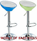 HIP KITCHEN STOOL IN BLACK BLUE RED AND GREEN