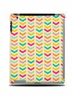 GEOMETRIC RAINBOW ARROWS PATTERN HARD BACK CASE COVER FOR APPLE iPAD 2 / 3 / 4