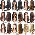 """22"""" Long Wavy Braided Hairband Wigs Synthetic Curly 3/4 Half Wig With Headband"""