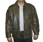 Men's Distres Buffalo Leather Jacket Style GREAT PRICE $89.99