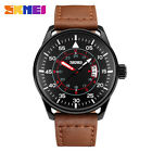 SKMEI Men Leather Quartz Watches #G Mens Sport  Fashion Waterproof Wristwatches