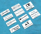 50x Custom iron on name tag clothing label handmade business Personalized logo
