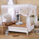 White Princess Bedding Canopy Mosquito Netting Or Frame Twin Full Queen King
