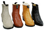Mens Assorted Colors Leather Ostrich Print Cowboy Boots Style 1000 Ostrich