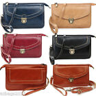 Ladies Faux Leather Style Small Messenger & Cross Body Purse Clutch Wedding Bag