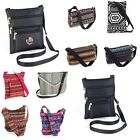 Ladies Cross Over Bag Holiday Shoulder Messenger Body Bag Canvas Beach Shopping