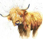 HELEN ROSE Limited Print of my HIGHLAND COW original watercolour painting 147