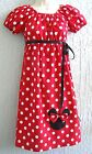 Minnie Mouse Lady Dress Size S M L XL Multi-color Red Pink Custom Made Handmade