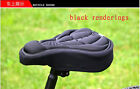 Cycling Bike Bicycle 3D Silicone Gel Pad Seat Saddle Cover Soft Fit Cushion new