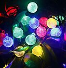 30 LED Crystal Ball Fairy String Lights for Outside Garden Yard Halloween party
