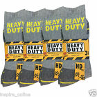 12 MENS WORK CONSTRUCTION REINFORCED HEEL & TOE THICK ULTIMATE BUILDER SOCKS NEW