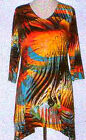 Valentina Tunic Top Multi Colored   Style  10404 1  Studed Polly NWT  Size Small