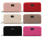 Ladies Women Quilted  Faux Leather Purse Wallet Coin Bag