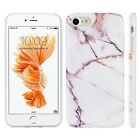 iPhone X 8 7 6 Plus Hybrid Rubber Silicone Soft TPU Case Classic Marble Pattern