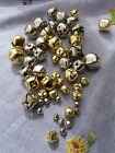 Jingly Bells all sizes - 20mm 15mm 10mm 6mm gold/silver - pack of ten
